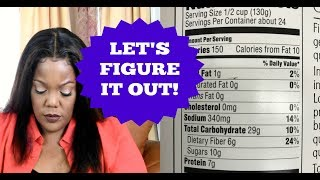 HOW TO READ NUTRITION FACTS LABELS WHEN PLANNING A PARTY  Cooking With Carolyn