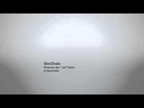 Tutorial: Machine Configuration Tool - Archive in SinuTrain einlesen