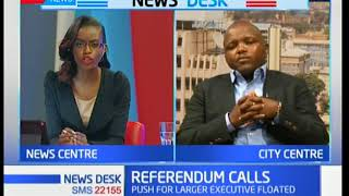 Charles Kipkulei comments on the refferendum calls to change the mode of government in Kenya