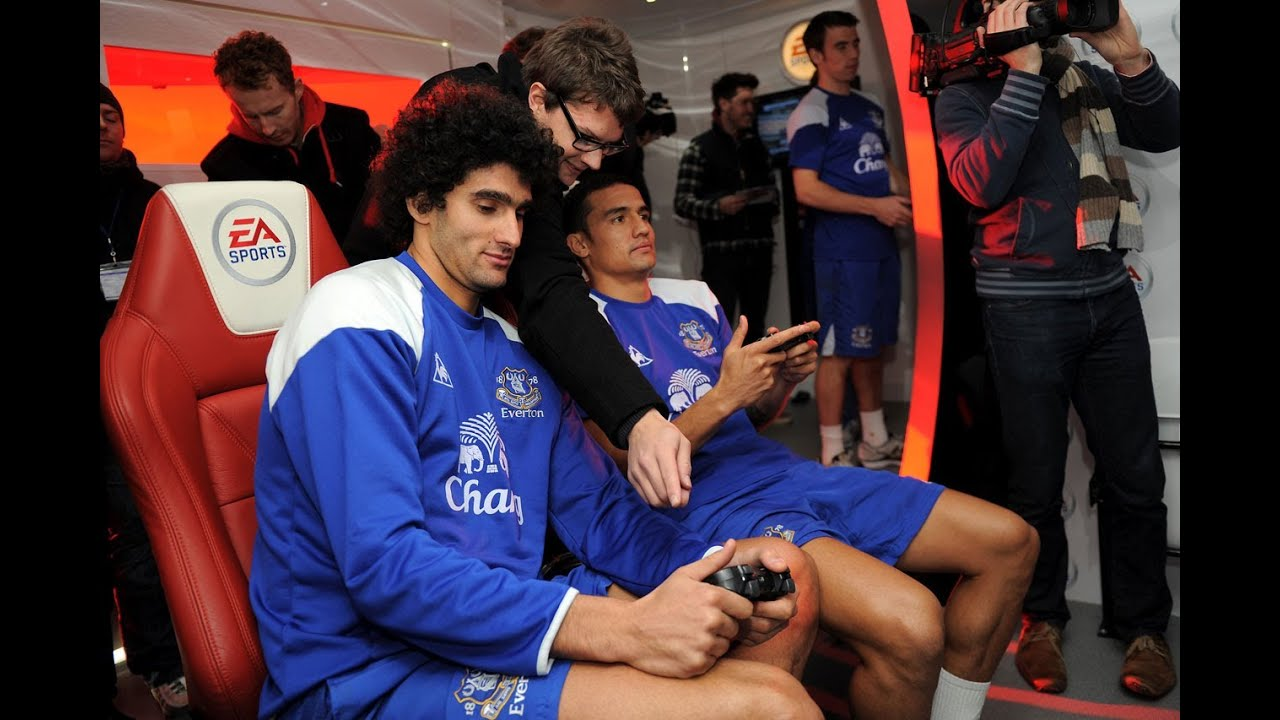 Tim Cahill Destroys His Everton Teammates At FIFA 12