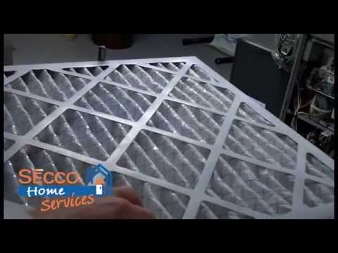 Video Air flow direction arrow on replacement air filter