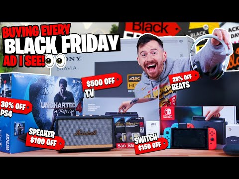 Buying Every Black Friday Advertisement I See For 24 Hours!!