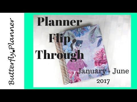 Beginning of 2017 Planner Flip Through January - June
