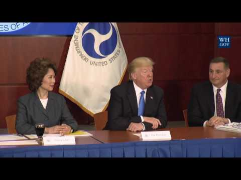 President Trump Participates in the Roads, Rails, and Regulatory Relief Roundtable