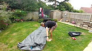 How to get your tent back in its bag coleman octagon 8