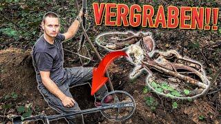 Schatzsuche: Vergraben im Wald liegt etwas Großes... (Sondeln mit Metalldetektor)
