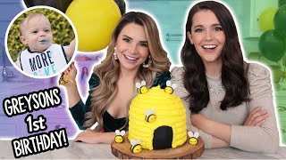 Greyson's FIRST BIRTHDAY Special! - Bee Hive Cake w/ My Sister!