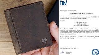 """TÜV zertifizierte Sicherheit! Leder Slim Wallet """"Bennet"""" mit RFID SCHUTZ von Optexx // DEUTSCH"""