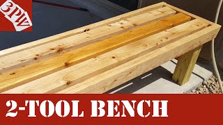 Two Power Tool Backyard Bench