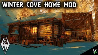 WINTER COVE: Unique Cabin Home Mod- Xbox Modded Skyrim Mod Showcase