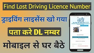 How to find lost driving licence number by name | DL खो गया Lost DL No कैसे निकाले - INDIA