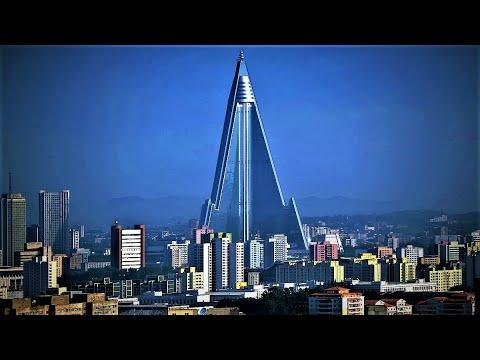 North Korea's Empty Spaceship-like Ryugyong Hotel