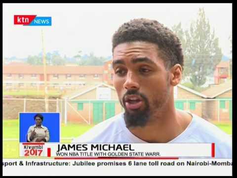 James Michael visits Kenya and hosts clinics at World Hope - Kawangware