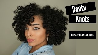 Achieve Perfect Bantu Knots On Stretched/Dry Hair | Heatless Curls