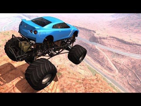 Cliffs Of Death #12 (No Music) - BeamNG Drive Crash Testing
