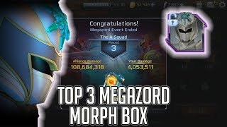 Power Rangers Legacy Wars: TOP 3 Megazord Box Opening