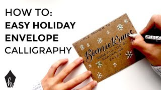 Holiday Envelope Calligraphy (With a FREE Template!)