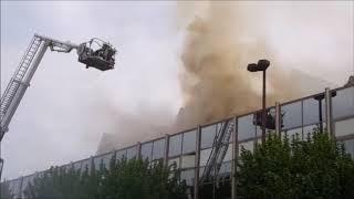 Großbrand Rheingoldhalle Mainz - Feuerwehr Mainz | Wiesbaden