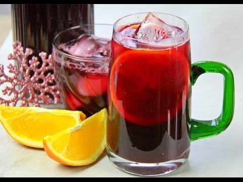 Cranberry Sorrel Rum Punch Recipe.