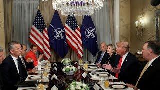 Trump-Stoltenberg tense talk at NATO summit (FULL VIDEO)