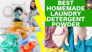BEST HOMEMADE LAUNDRY DETERGENT POWDER WITH ESSENTIAL OILS (DIY LAUNDRY BOOSTER WITH RECIPE)🧺✔️
