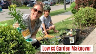 Front Yard Gardening Makeover - On A Budget | BEFORE AND AFTER