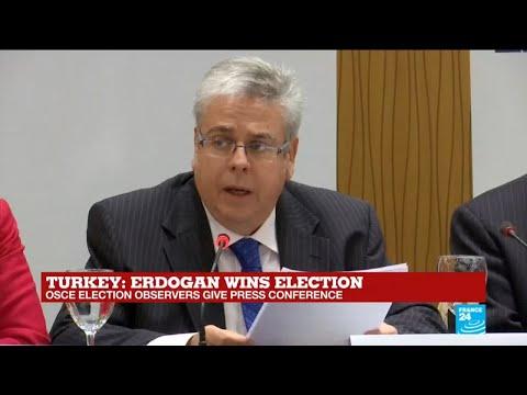 Turkey elections: OSCE observers give press conference