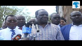 Kakamega Governor Oparanya press conference on Mumias Sugar