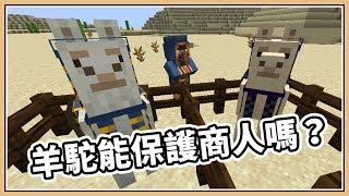 【Minecraft】羊駝能保護的了神秘商人嗎?|19w05a