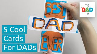 5 Cool DIY Fathers Day Cards