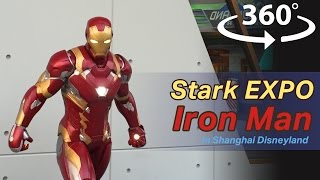Stark Expo in the Waiting Queue of Ironman Experience VR | 360 Video