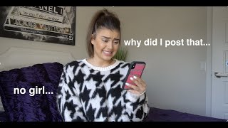 reacting to my old social media...(cringe) - Kalani Hilliker