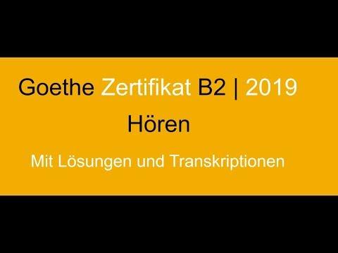 Goethe Zertifikat B2 Neu Hören Modellsatz Erwachsene Grenzenlosci