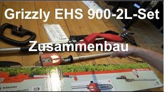 Grizzly EHS 900-2 L Langstiel Heckenschere zusammenbauen und Kette spannen