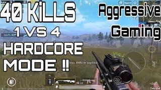 +40 KILLS! Solo Vs Squad | Hard Mode | Pubg Mobile