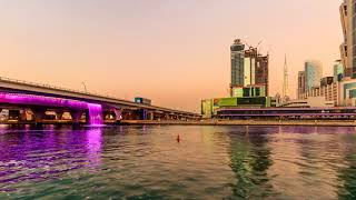 Short Timelapse at the Dubai Water Canal