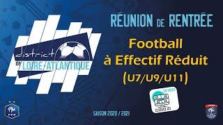 Réunion de Rentrée Foot à Effectif Réduit - Saison 2019/2020