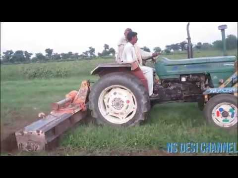 Green Fiat 480 special Tractor  With Rotavator  | Agriculture in Pakistan.bay NS Desi channel