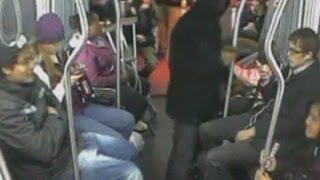 Смотреть онлайн Попытка преступника ограбить пассажира автобуса