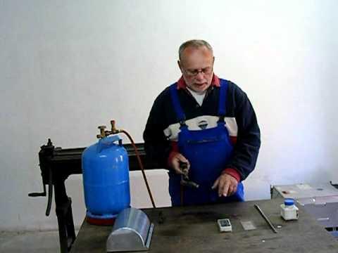 Weichlöten Zinkblech - Eine Anleitung - Beispiel Dachrinne
