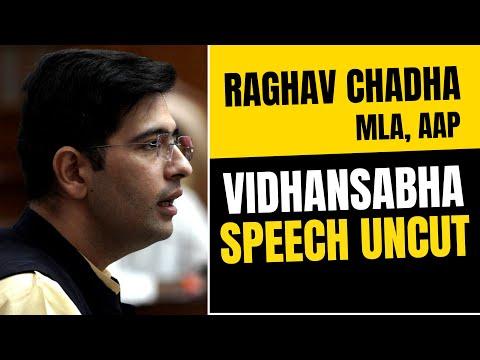 AAP MLA Raghav Chadha FULL SPEECH IN DELHI VIDHANSABHA