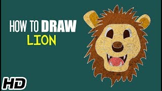 How To Draw LION (शेर) | Easy Step By Step Drawings For Children | Shemaroo Kids Hindi