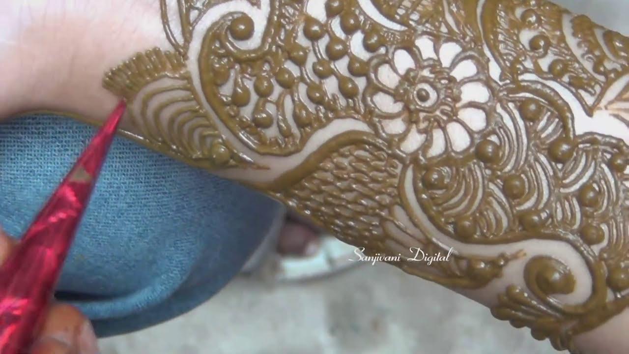 mehndi design tutorial for hands by sanjivani lifestyle