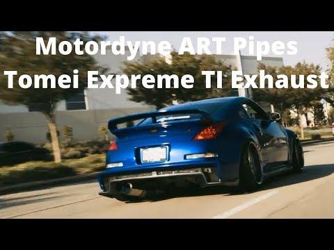 G37 Sedan wit Motordyne ART Pipes and Top Speed Pro 1 Y back