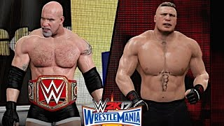 wwe-wrestlemania-33-goldberg-vs-brock-lesnar-universal-championship