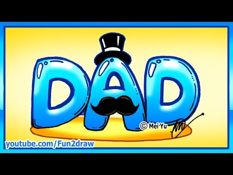How to Draw Perfect Father's Day Gift - Dad with Mustache + Tophat - Fun2draw