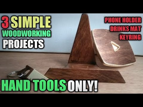 Simple Woodworking Projects For Beginners - Wood Projects With Hand Tools Only