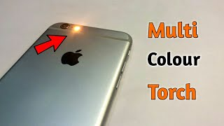 Multi Colour Torch in iPhone || How to change Flashlight Colour