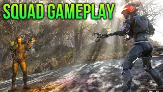 Fallout 76 SQUAD Gameplay, Questing & Boss Mobs!