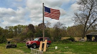 How To Build/Install A Flag Pole (Complete Process)